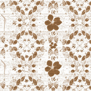 Bronze faded floral