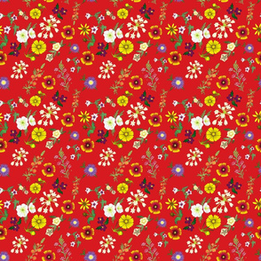 GainesCountyWildFlowersColor_RedBackground