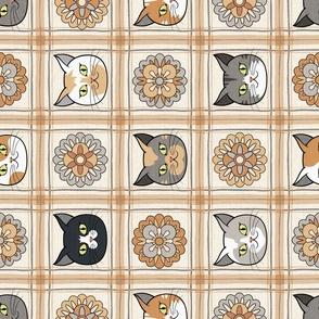 Cat and  Cup Tea Towel