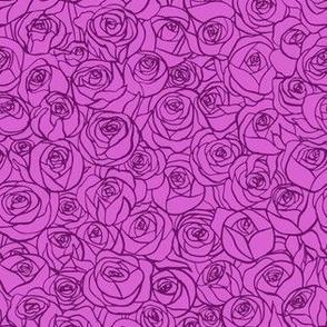 ranunculus floral - purple
