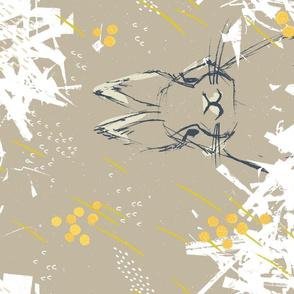 Bunny Portrait M+M Latte Large by Friztin