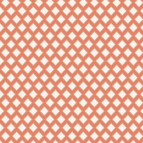 Stamped Tile in Orange