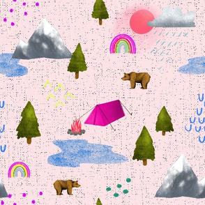 Happy Camper - Pink on Pink