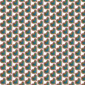 Rainbow hearts
