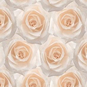 Jumbo Blushing Bride Pink Rose Floral Pattern