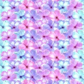 Pink Purple Blue Floral Unicorn Fantasy Pattern