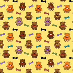 Brownie the Bear & Friends LOVE Bow Ties - sunshine yellow (small)