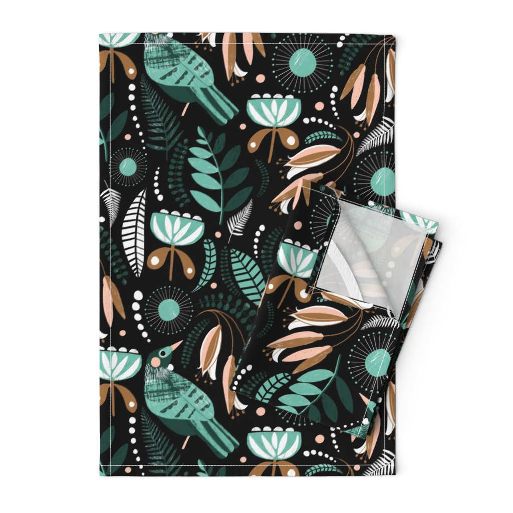 Orpington Tea Towels featuring Tui by melarmstrong