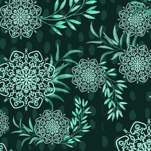 Mandala Flower in mint