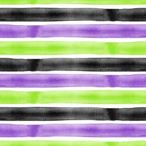 Halloween - watercolor stripes - LAD19