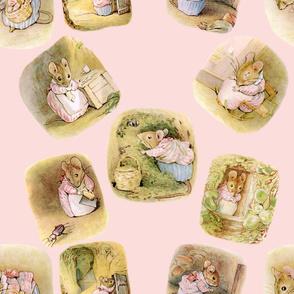 MrsTittlemouse  with Pink Background