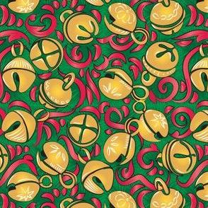 Vintage Sleigh Bells - Green