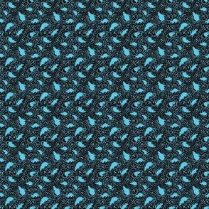 Paisley Rat Mosaic 3inch black turquoise