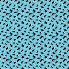 Paisley Rat Mosaic 3-inch turquoise white black