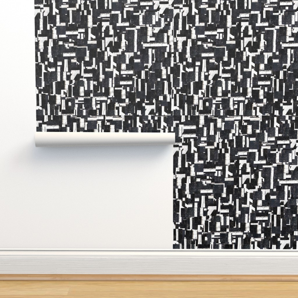 Isobar Durable Wallpaper featuring Black and White  Grid by thephotogardener