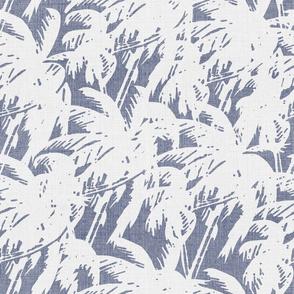 palm trees blue linen