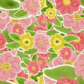 Blossom Watercolour Peony bowl of beauty delight