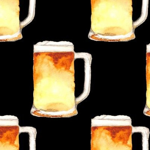 19-09m Beer Mug Large Drink Black Gold Food