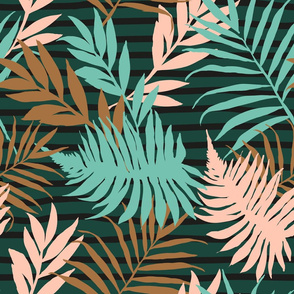 Urban Jungle Boho Palm Leaf Pattern