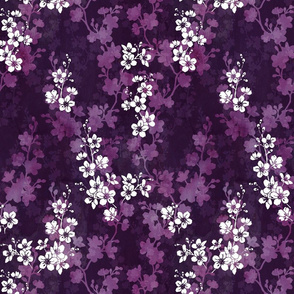 Cherry blossom in deep purple