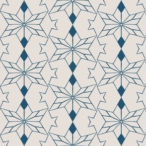 Rustic Star Mirrored Off White Blue
