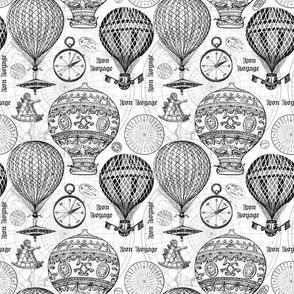Vintage Travel Hot Air Balloons