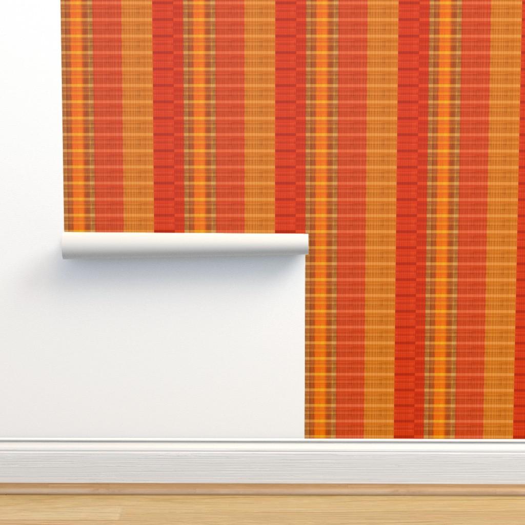 Isobar Durable Wallpaper featuring hunter-orange-stripes by wren_leyland