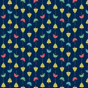 Bells, Birds & Beads (Navy)