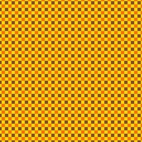 Checks M Orange Yellow