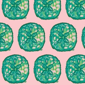 Green and Pink Sand Dollar