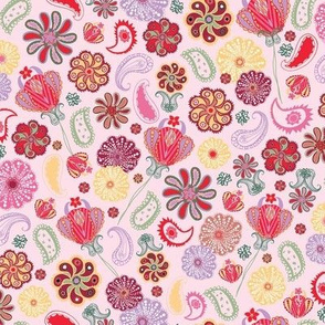 Paisley Blooms - PINK