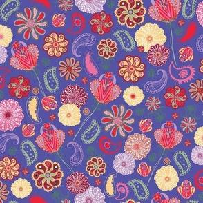 Paisley Blooms - PURPLE