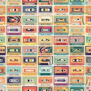 Retro Cassette Tapes - Line