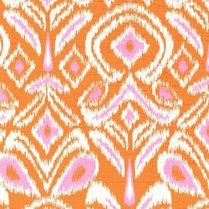 ikat flower - orange