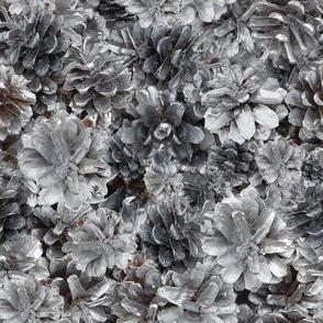 Silver Pine Cones