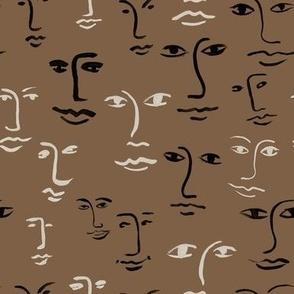 faces mixed - mocha