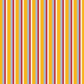 Gold White Red Blue Stripes