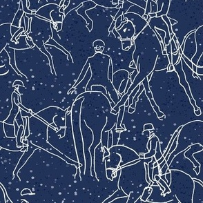 Starry Dressage - Blue Ribbon Blue