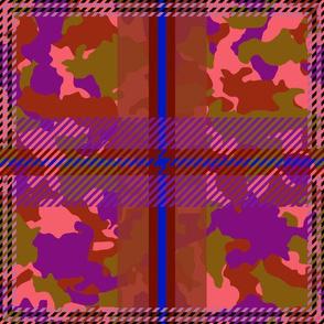 Manleigh Camouflage Tartan Violet Dusk Large Grande