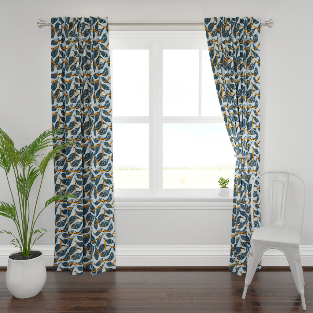 Plymouth Curtain Panel featuring Whaley fun in the sun by gkumardesign