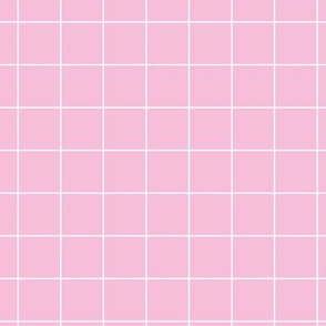 Soft pink pool tiles geometric minimal trend grid hot pink
