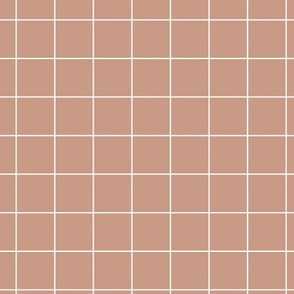 Soft latte pool tiles geometric minimal trend grid brown cappuccino