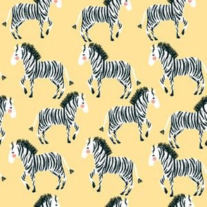 "6"" Zebras - Mustard"