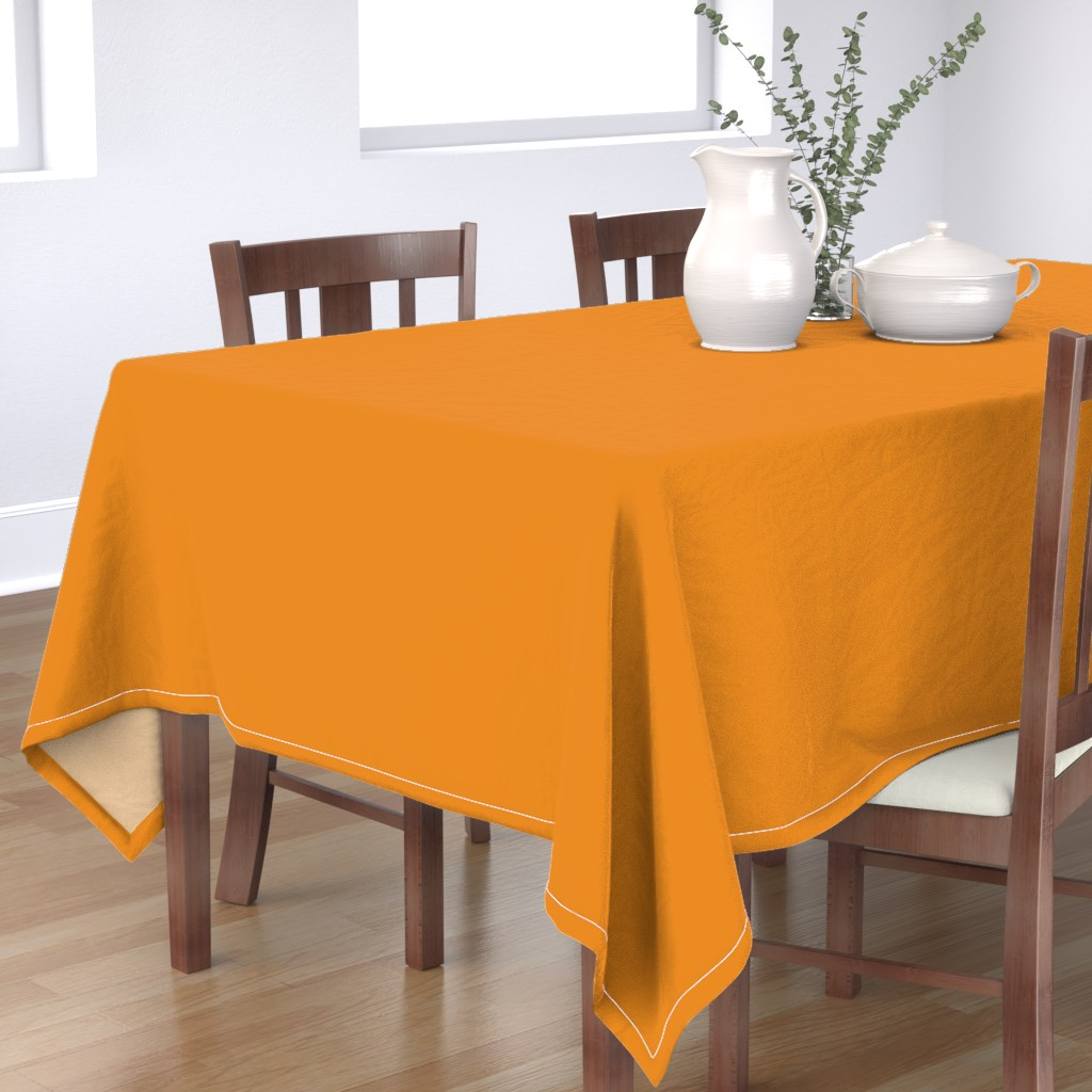 Bantam Rectangular Tablecloth featuring Butterscotch Gold Solid Color Trend Autumn Winter 2019 2020 by paper_and_frill