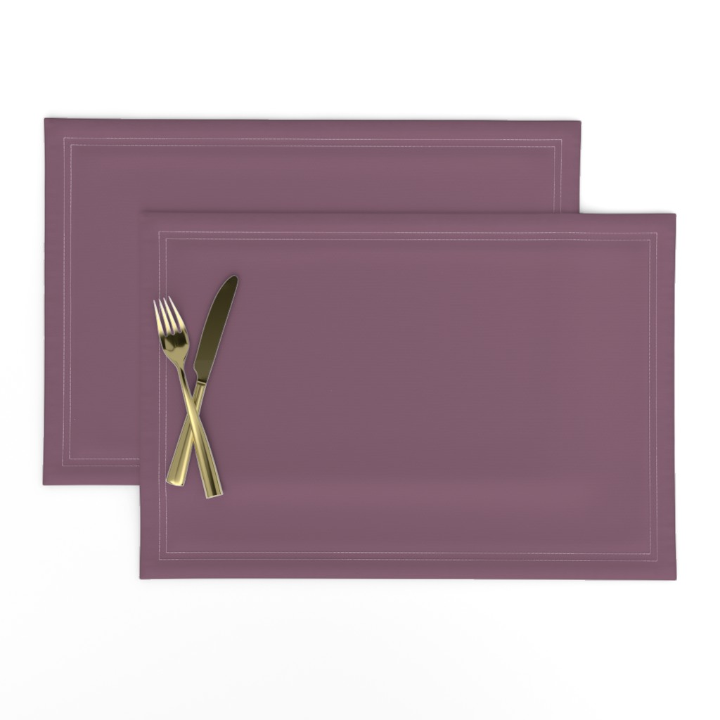 Lamona Cloth Placemats featuring Grapeade Purple Solid Color Trend Autumn Winter 2019 2020 by paper_and_frill
