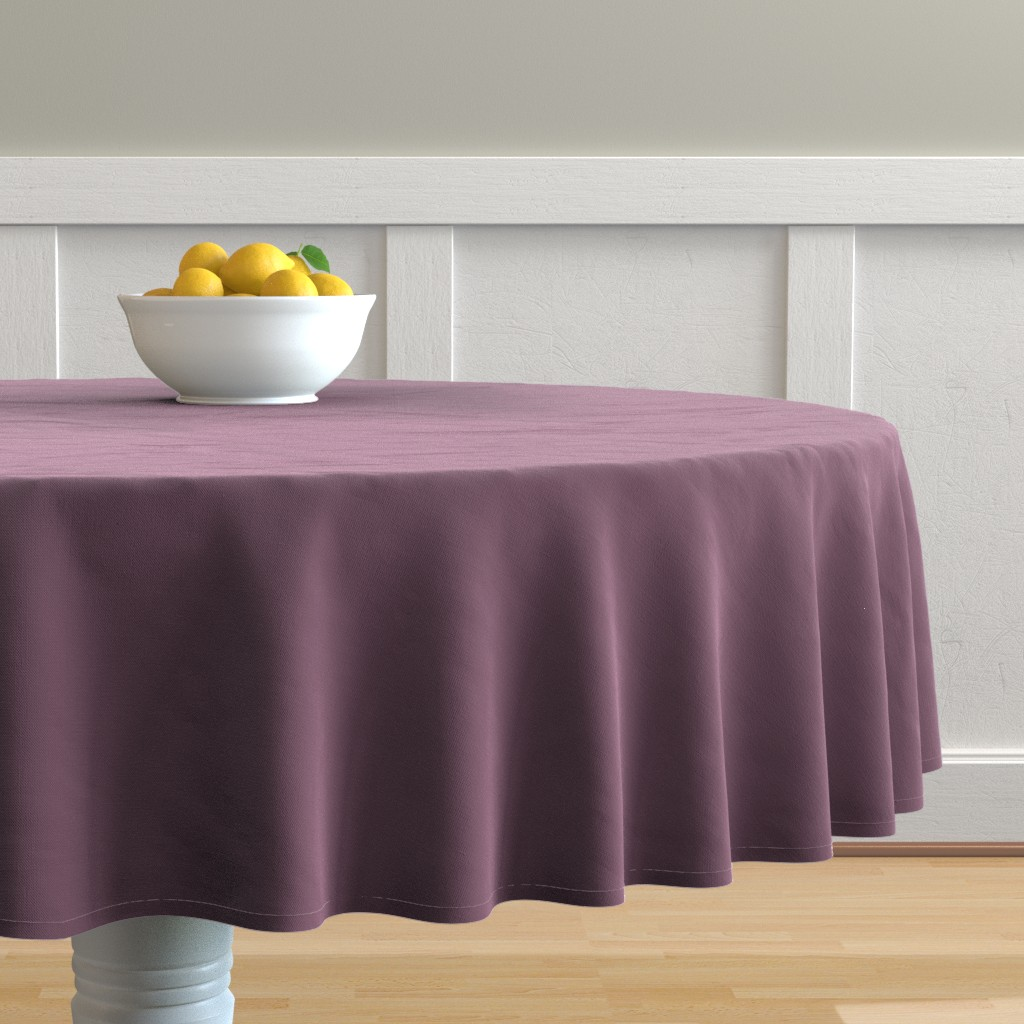Malay Round Tablecloth featuring Grapeade Purple Solid Color Trend Autumn Winter 2019 2020 by paper_and_frill