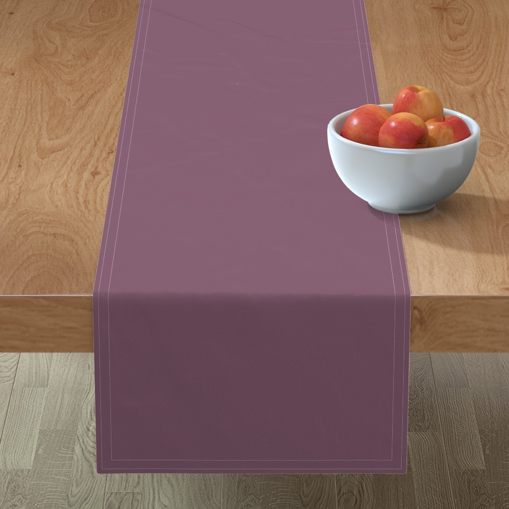 Minorca Table Runner featuring Grapeade Purple Solid Color Trend Autumn Winter 2019 2020 by paper_and_frill