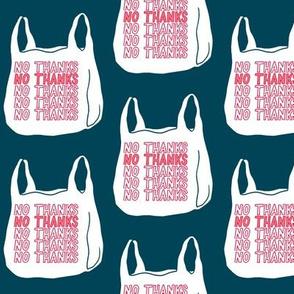 no thanks plastic bag - ocean