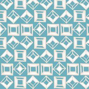 Aztec Geometric Shapes - Baby Blue