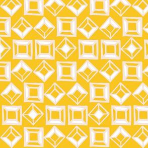 Aztec Geometric Shapes - Yellow
